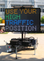 Solar Powered Multi Color Variable Message Sign